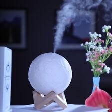 880ml 3D Moon Shape Air Humidifier Essential Oil Diffuser Lamp USB LED Light US