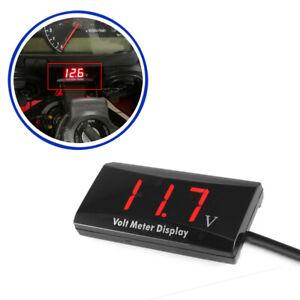 Car Motorcycle Digital LED Display Voltmeter Voltage Gauge Panel Meter DC 8-16V