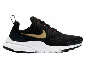 sports shoes d5a67 8782b Image is loading Nike-PRESTO-FLY-GS-913967-004-Black-Gold-
