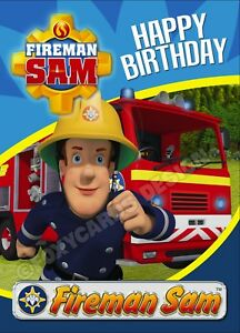 Fireman Sam Standard Happy Birthday Card A5 With Envelope Free