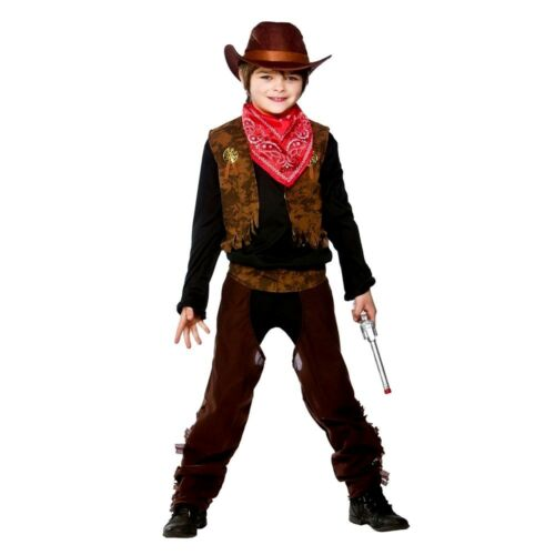Child WILD WEST COWBOY Fancy Dress Indian Book Week Costume Boys Outfit Age 3-10