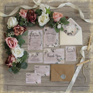 Personalised-Wedding-Invitations-ROMANTIC-IVORY-RUSTIC-WITH-ENV-packs-of-10