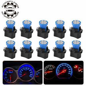 10x-Blue-T10-LED-Bulb-Instrument-Panel-Cluster-Dash-Light-Twist-Lock-Sockets