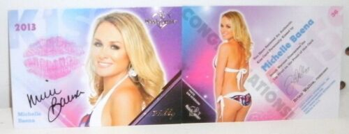 BENCHWARMER 2013 - MICHELLE BAENA - AUTOGRAPHED  KISS  CARD #36