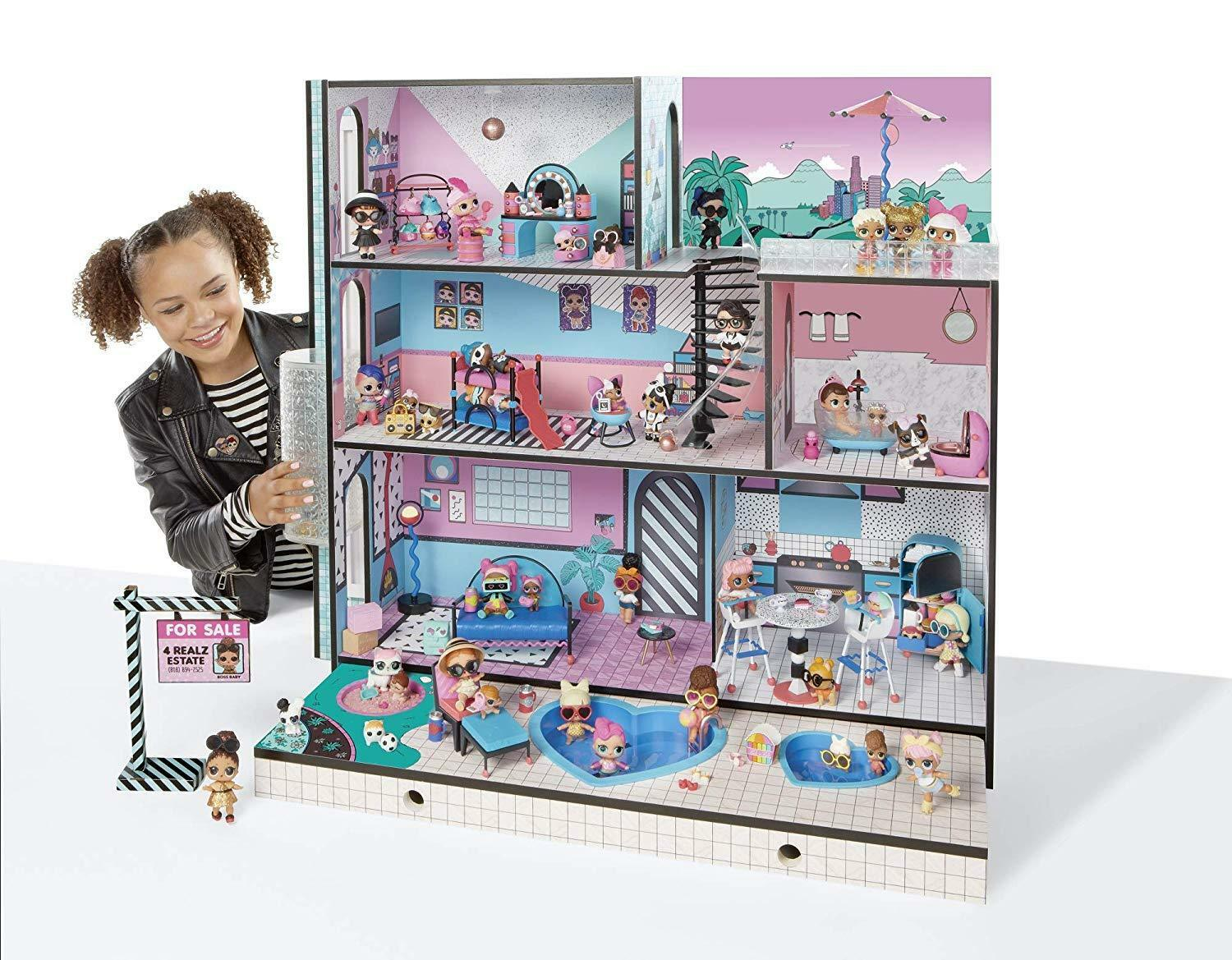 Lol Doll House Surprise Interactive Sounds Lights L.O.L Large Fun Toy For Girls