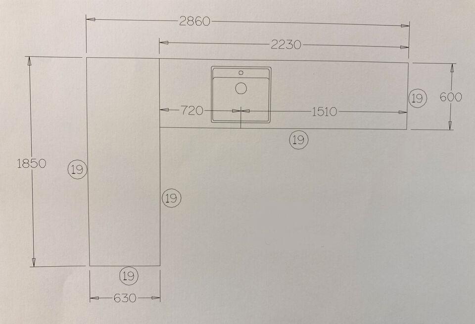2 BD667-bordplader, nye, m. underlimet Franke-v...