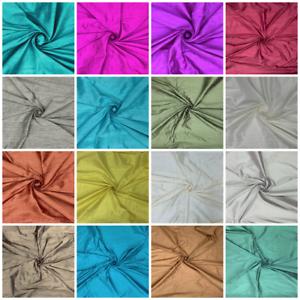 100-RAW-doupion-soie-Tissu-Robe-Making-inidian-Slub-Silk-pour-Artisanat-Rideaux