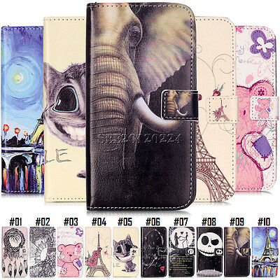 Retro Flip Pattern Card Pouch Magnetic Stand PU Leather Luxury Case Cover For LG