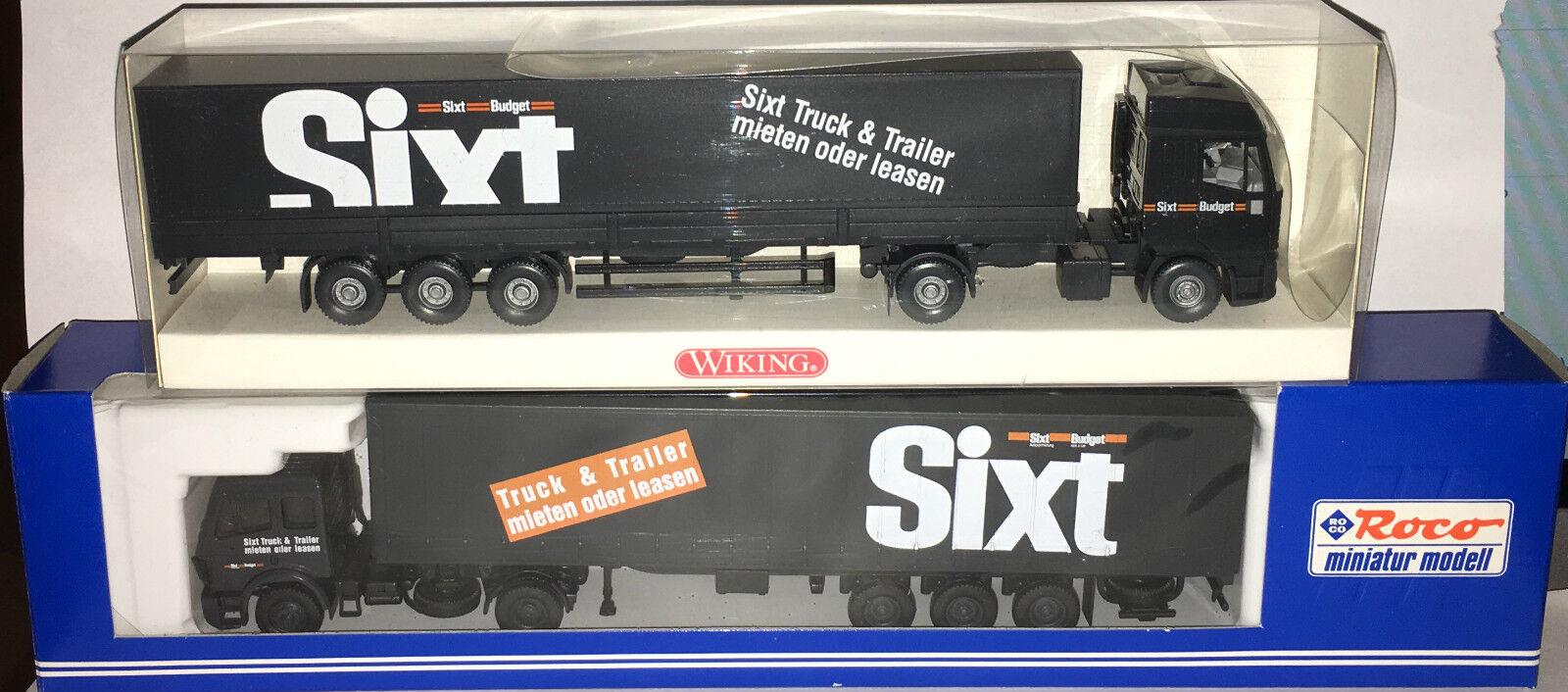 2 x Wiking 516 02 36  Roco Miniature Modèle 1579  Sixt , h0 1 87, Neuf  neuf dans sa boîte