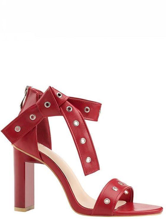 Sandale stiletto eleganti  9.5 cm rosso simil pelle simil pelle eleganti 9100