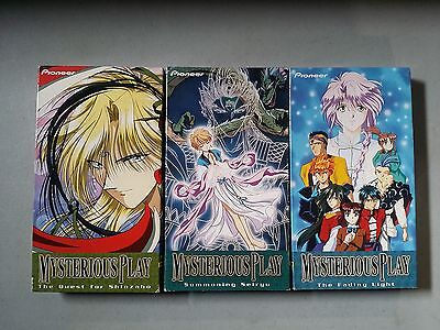 The Mysterious Play Fushigi Yugi Lot of 3 VHS Anime Tapes -  Free Shipping!