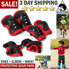 Kid's Roller Blading Wrist Elbow Knee Pads Blades Guard 6 Pcs Set in Purple