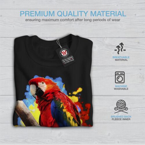 Bird Casual Pullover Maglione Wellcoda Parrot Bright Splash Da Uomo Felpa