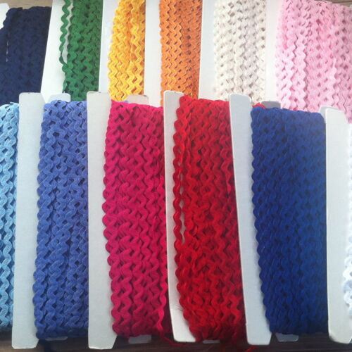 "33//64/"" END OF ROLL BARGAINS JUMBO RIC RAC BRAIDING CRAFTS SEWING 13MM"