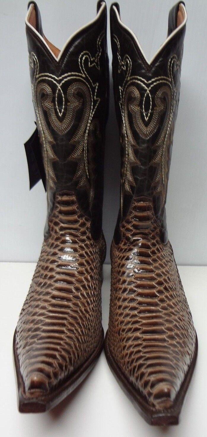 New Herren Real Snake Python Snake Real Skin Genuine Leder Cowboy Stiefel Rodeo Western C183 a6ae53