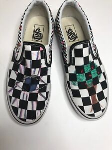 vans asher black and white