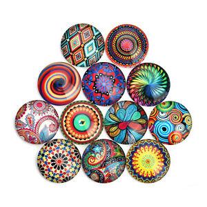 20pcs-Round-Glass-Mixed-Pattern-Cameo-Cabochon-Flat-Back-10-12-14-18-20-25-mm