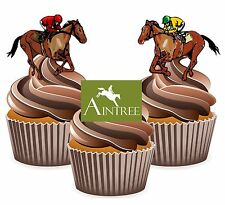 Horse Racing Aintree Racecourse - 12 Edible Cup Cake Toppers Cake Decorations