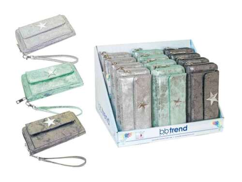 metallizzato V BB Trend a colori 20x10cm x 4,5cm Div Lang Borsa//portemanie Stella