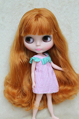 """Takara 12"""" Neo Blythe Doll from Factory Nude Doll Long Brown hair HG-9656"""