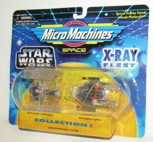 Micro Machines STAR WARS  X-Ray Fleet - Darth Vader Fighter & A-Wing Action Toy