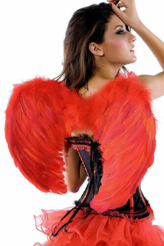 HALLOWEEN DEVIL TUTU COSTUME Feather Kids Girls Fancy Dress Outfit Party