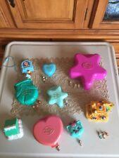 9 VinTage Bluebird Polly Pocket Compacts 17 Dolls Houses Disney Aladdin Lot