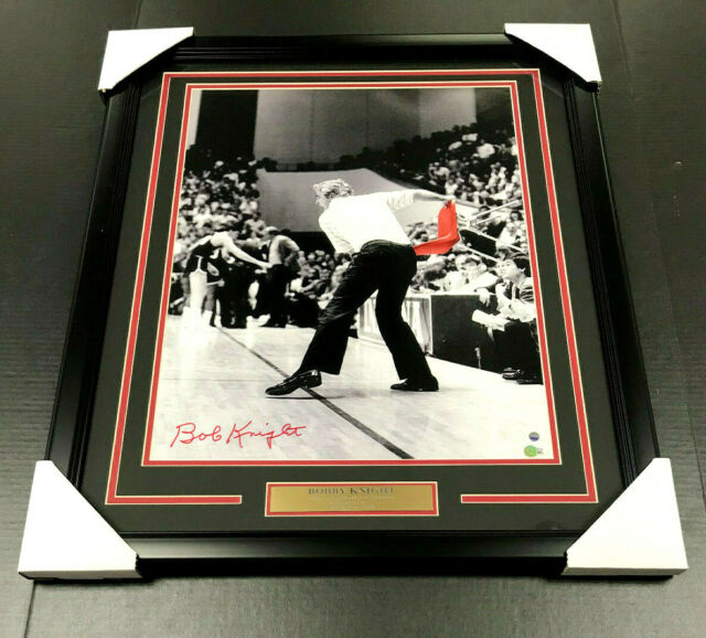Autographed College Floorboards Bob Knight Signed Framed 12x12 Floorboard Indiana Hoosiers Bobby General Coa JSA Certified