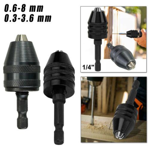 0.6-8mm//0.3-3.6mm Aluminium Legierung Sechskant Schaft Bohrer Chuck Adapter Für