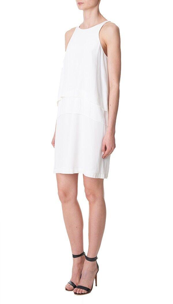 NEW Tibi Silk Halter Dress in Weiß - Größe 4   D2006