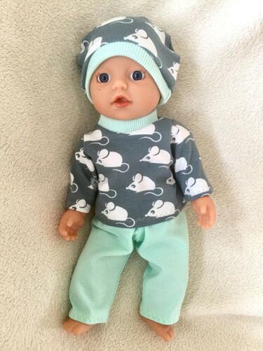 3 teilig Puppenkleidung Mäuschen NEU z.B für My Little Baby Born 32cm