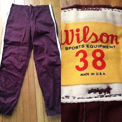 Vintage 1950's Wilson Sport Pantaloni Taglia 38 Vita Righe Gamba Made In Usa Grande Assortimento