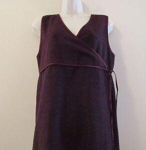NWT-J-Jill-Sleeveless-Maxi-Dress-Jumper-in-Purple-w-Surplice-Neck-Sz-XS-Petite
