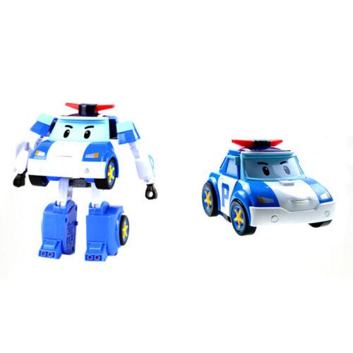 4PCS Robocar Poli Roy Amber Helly Transformer Robot Figures Academy Set Toy 2019