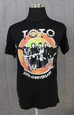 NWOT TOTO 35th Anniversary Men's Concert T-Shirt Size Medium Black 100% Cotton
