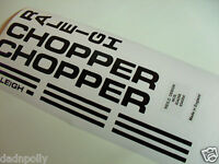 RALEIGH CHOPPER MK 1 COMPLETE DECAL SET  - VARIOUS COLOURS