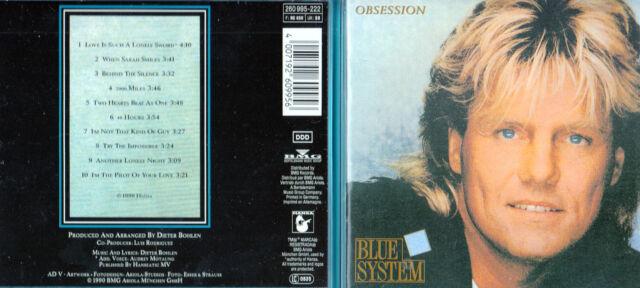 Blue System - CD - Obsession - CD von 1990 - Neuwertig !