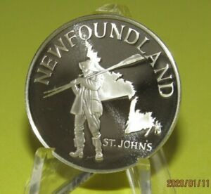 Newfoundland-Province-Canada-Silver-Proof-Medal-Pick-your-Province