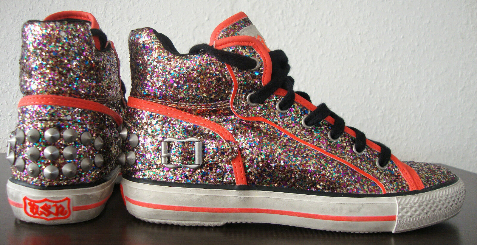 Ash grönigo Traniers Ankle skor skor skor kvinnor skor skor Glitter Studs Storlek 37 ny  billig butik