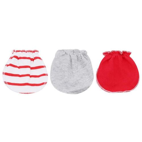 Infant Baby Girl Boy Anti Scratch Mitts Cotton Cute Mittens Gloves W