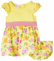 Dress Baby Girls Clothes 2 Piece Knit Dress Yellow Newborn Infant Outfits Kids S