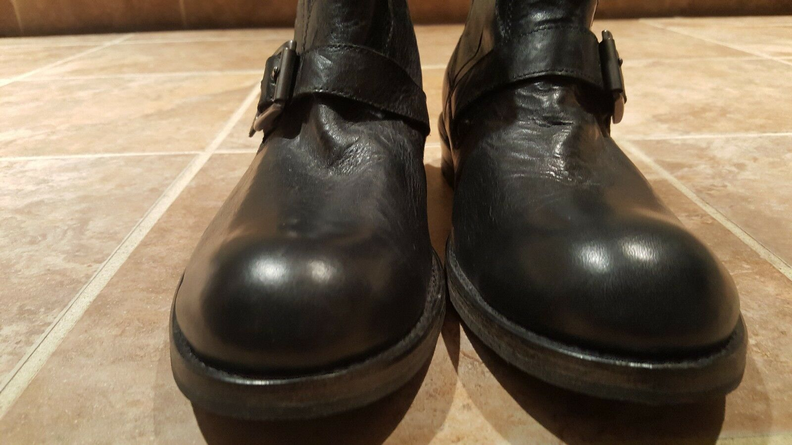 Men John Varvatos Leather Leather Leather Boots SIZE 8 M NWOB b0cdb8