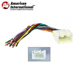 ford lincoln car stereo cd player wiring harness wire aftermarket ford lincoln car stereo cd player wiring harness