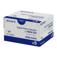 5 Sony Hd Hdv Tape Hdm-63vg For Gs80 Gs500 Gs400 Gs320 Gs300 Gs250 Gs120 Gs39