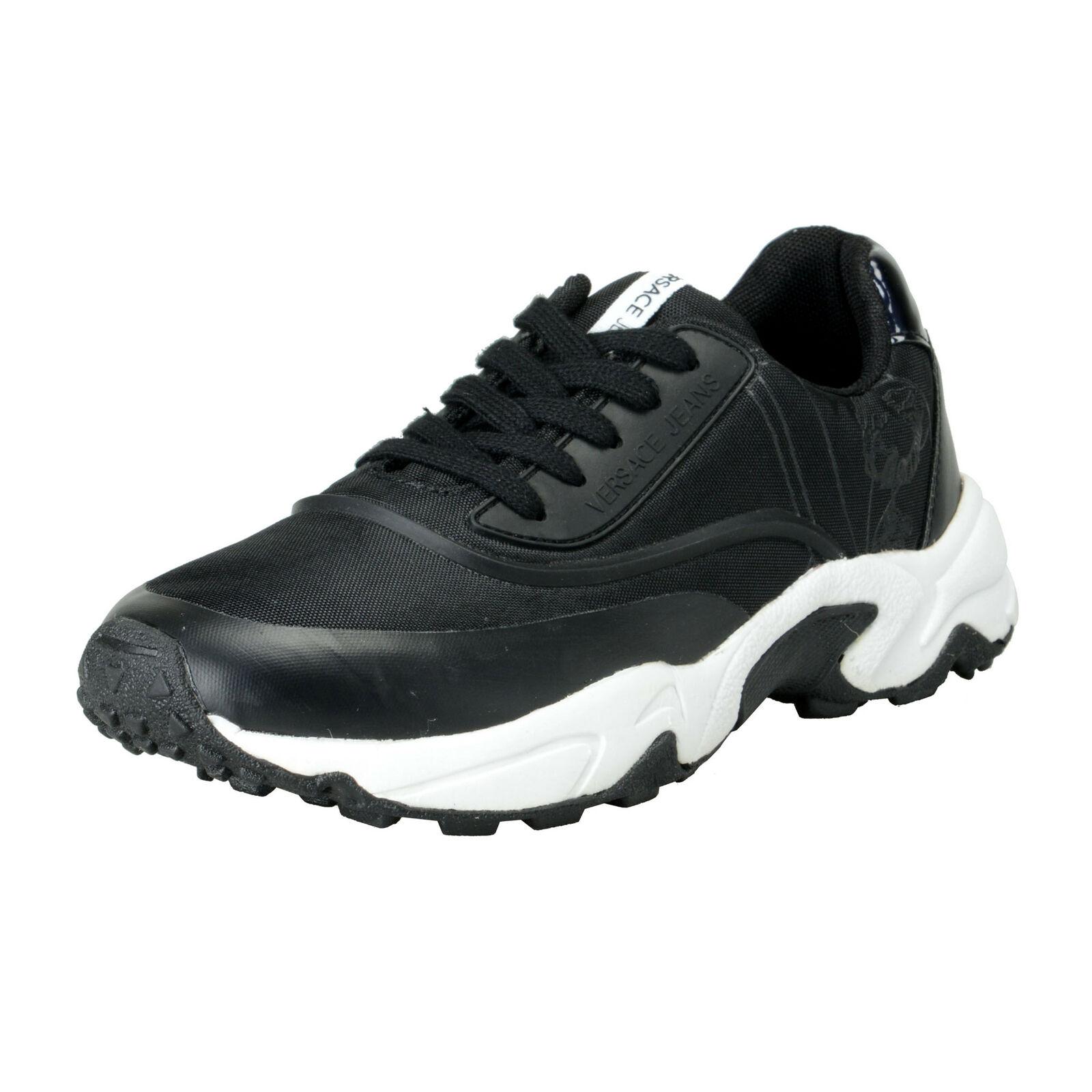 Versace Jeans para Hombre Malla Negra Moda tenis zapatos talla 7 8 9 10 11