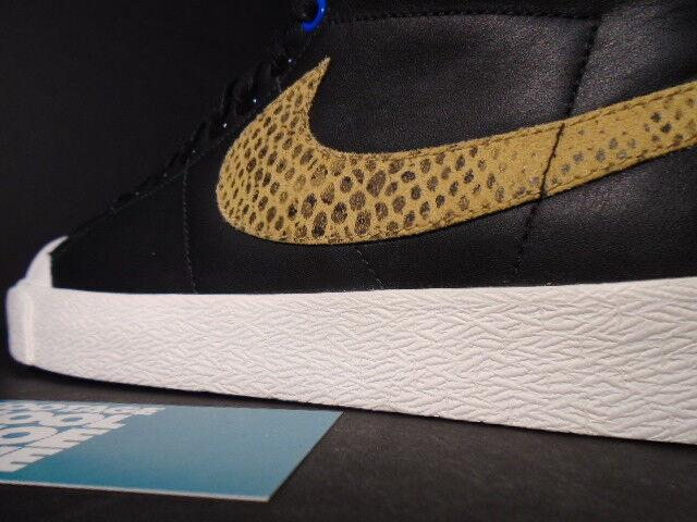 2018 Nike Blazer SB todos Tribunal Medio Harvest Stussy Negro Golden Harvest Medio Serpiente Blanco 9.5 125bab