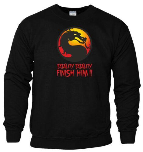 Mortal Kombat Sweatshirt Fatality Finish Him PC Game Xbox PS Gift Men Jumper Top