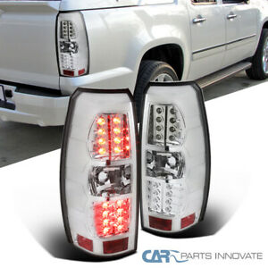 details about for chevy 07 12 avalanche clear led tail lights brake rear lamps left right  pickup black led tail lights rear