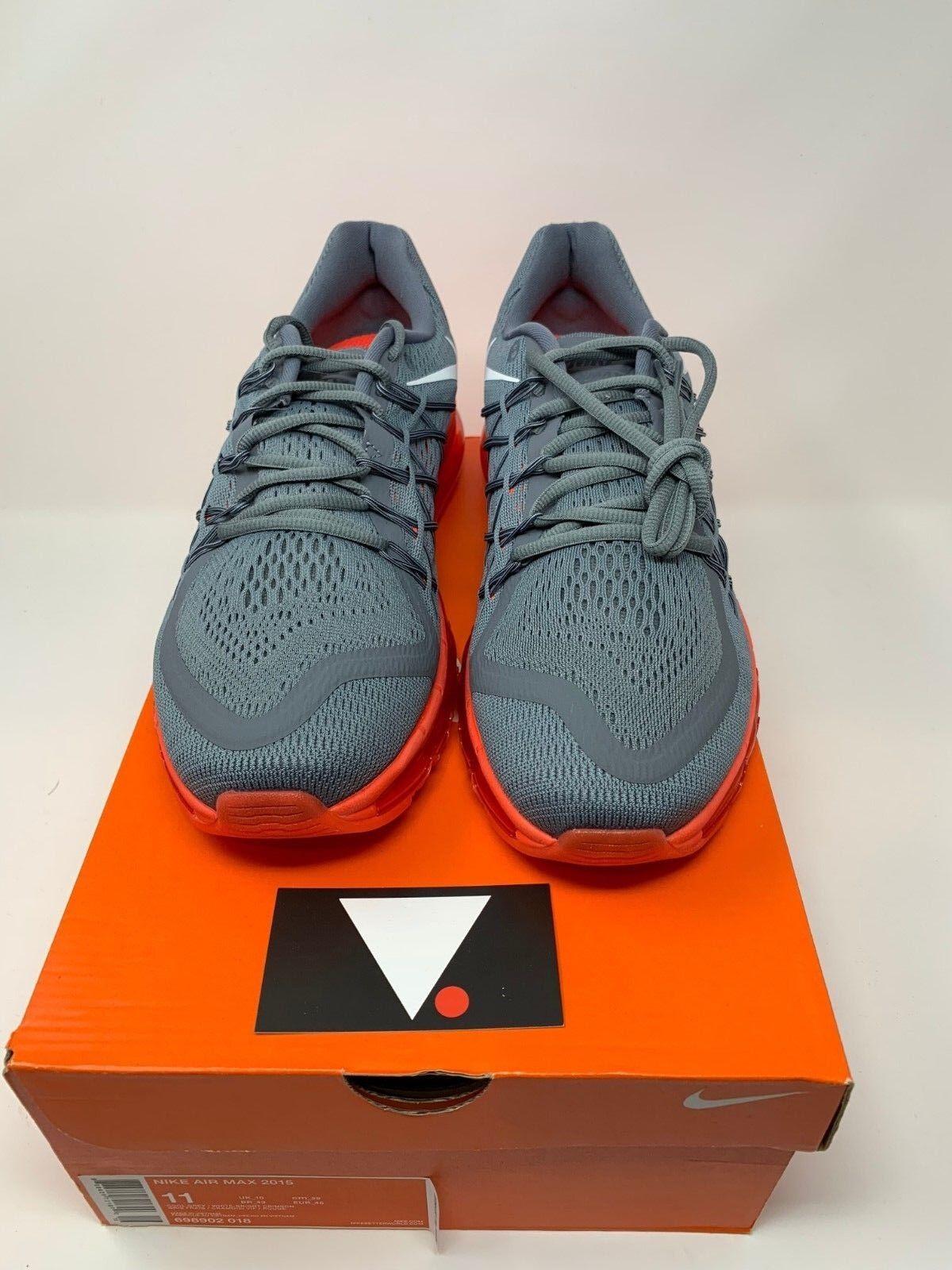 cd9033053f Nike Air Max 2015 Cool Grey White Bright Crimson 698902 018 REACT PRESTO