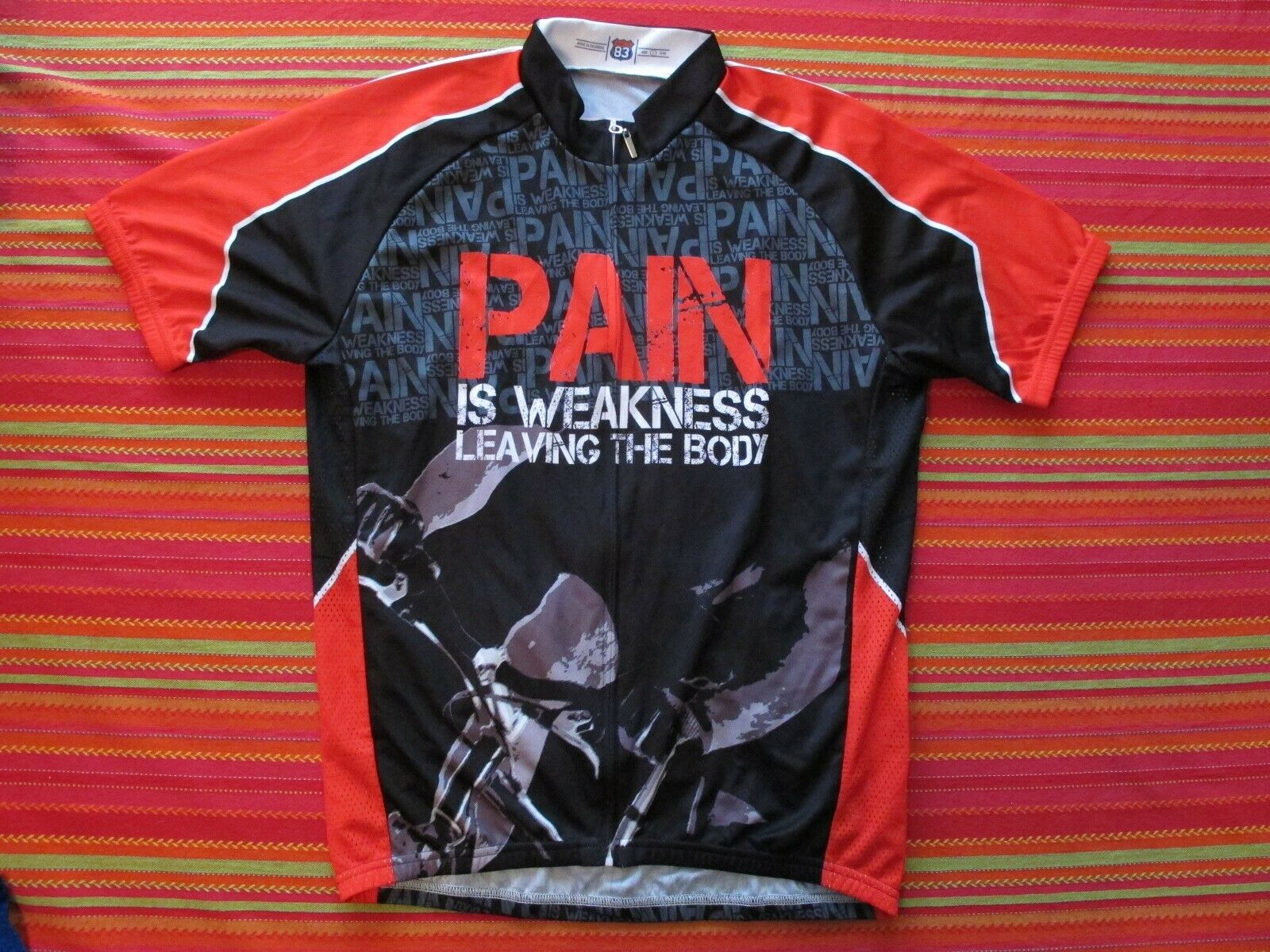 Pain is Weakness Leaving the Body  Mens Cycling  Jersey 83 Sportswear (Large New)  outlet factory shop